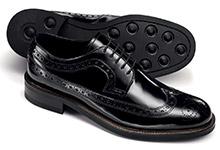Budapester Schuhe Flügelkappen Muster