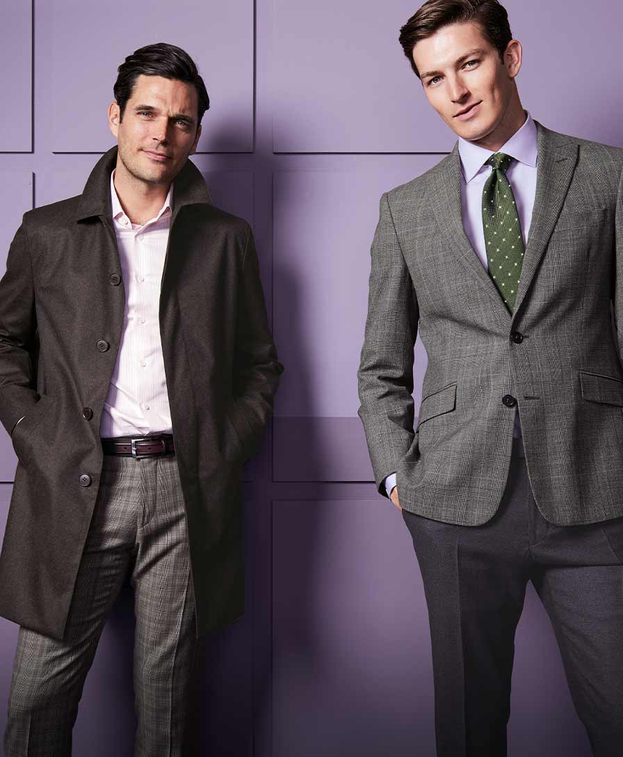 2 men in coats and suits