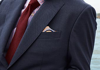 How to fold a one-point pocket square