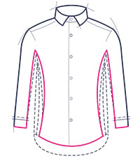 Super slim fit shirt illustration