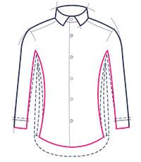 Super slim fit shirt illustration