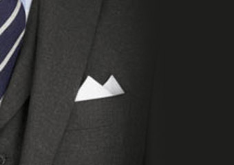 How to fold a two-point pocket square