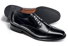 Schlichtes Schuh-Zehenkappen Muster