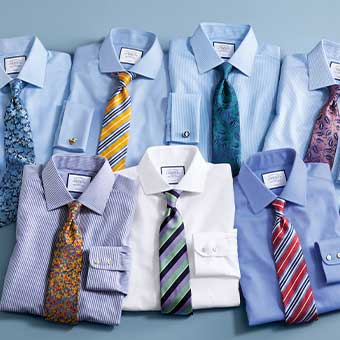 Stack of formal shirts