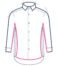 Extra slim fit shirt illustration