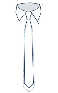 Slim tie fit illustration