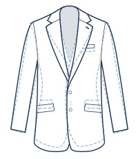Classic suit fit illustration