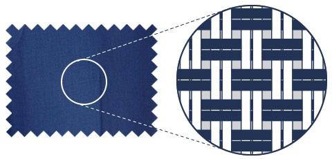 Basket weave shirt illustration