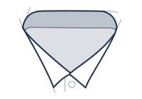 Businesshemd mit Flügelkragen Abbildung