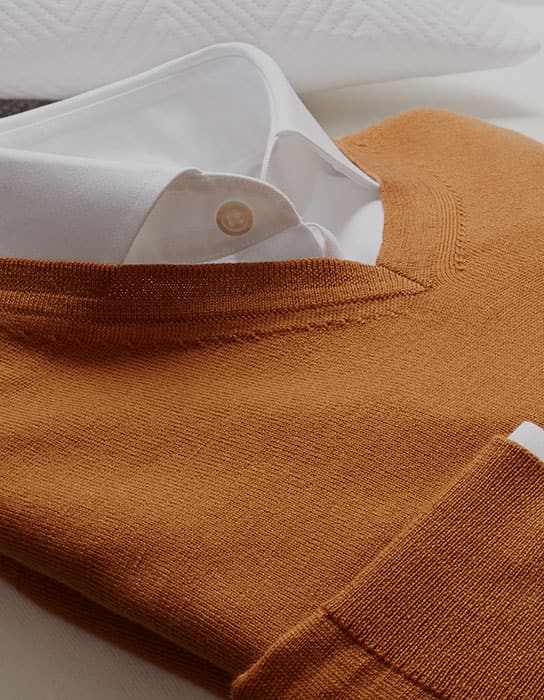 Orange merino jumper