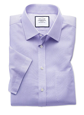 Non-iron short sleeve shirt