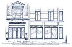 Charles Tyrwhitt storefront illustration