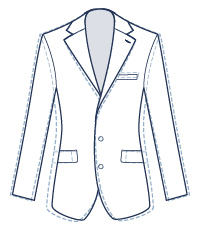 Extra slim fit illustration