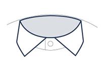 Businesshemd mit Semi-Haifischkragen Abbildung