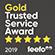 Feefo Gold Trusted Service 2019 winner logo