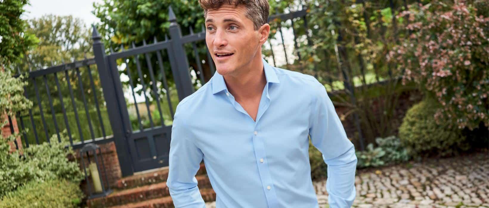 man in a tyrwhitt cool shirt