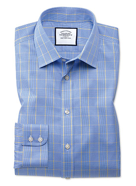 Non-iron Prince of Wales shirt