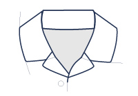 Formal shirt resort collar illustration