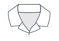 Formal shirt resort collar illustration