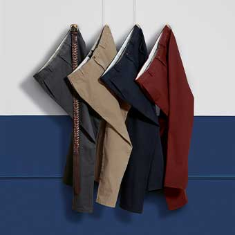 Stack of chinos