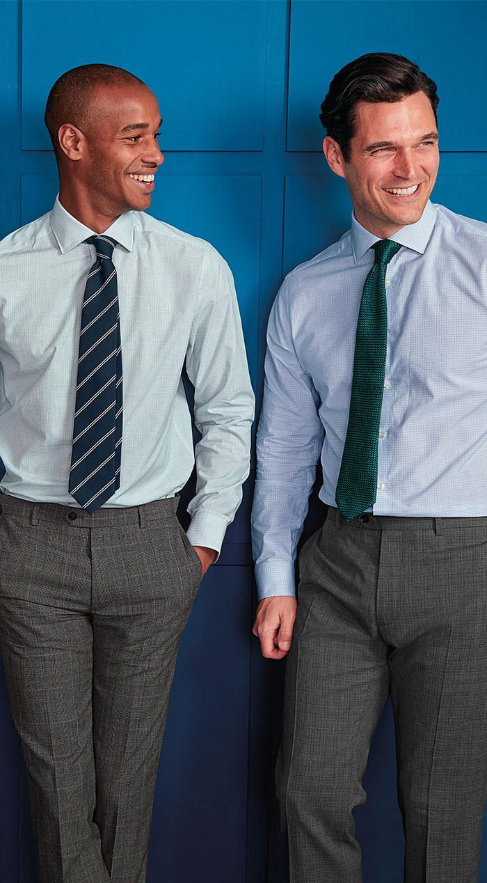 2 men wearing dash weave formal shirts