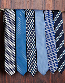 selection of ties
