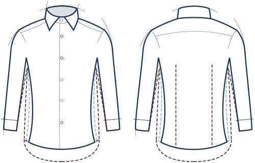 About our shirt fits charles tyrwhitt for Tailored fit shirts meaning