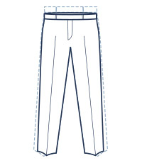 Slim trouser fit illustration