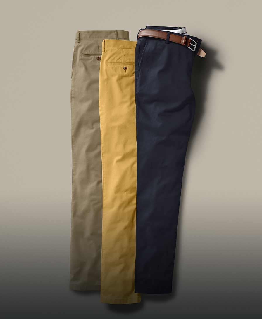 3 pairs of chinos