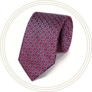 Klassische Krawatte aus Seide mit Paisleymuster in Rot