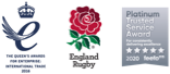 The Queen's Awards for Enterprise 2016, England Rugby and Feefo Platinum Trusted Service Award