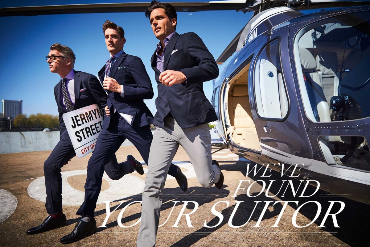 models wearing suits, chinos and shoes