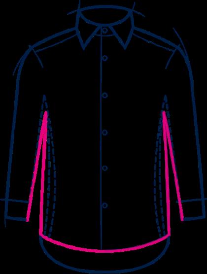 coupe droite chemises