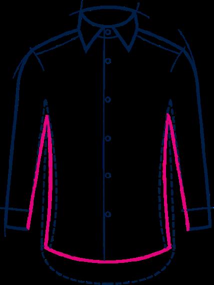 slim fit chemises