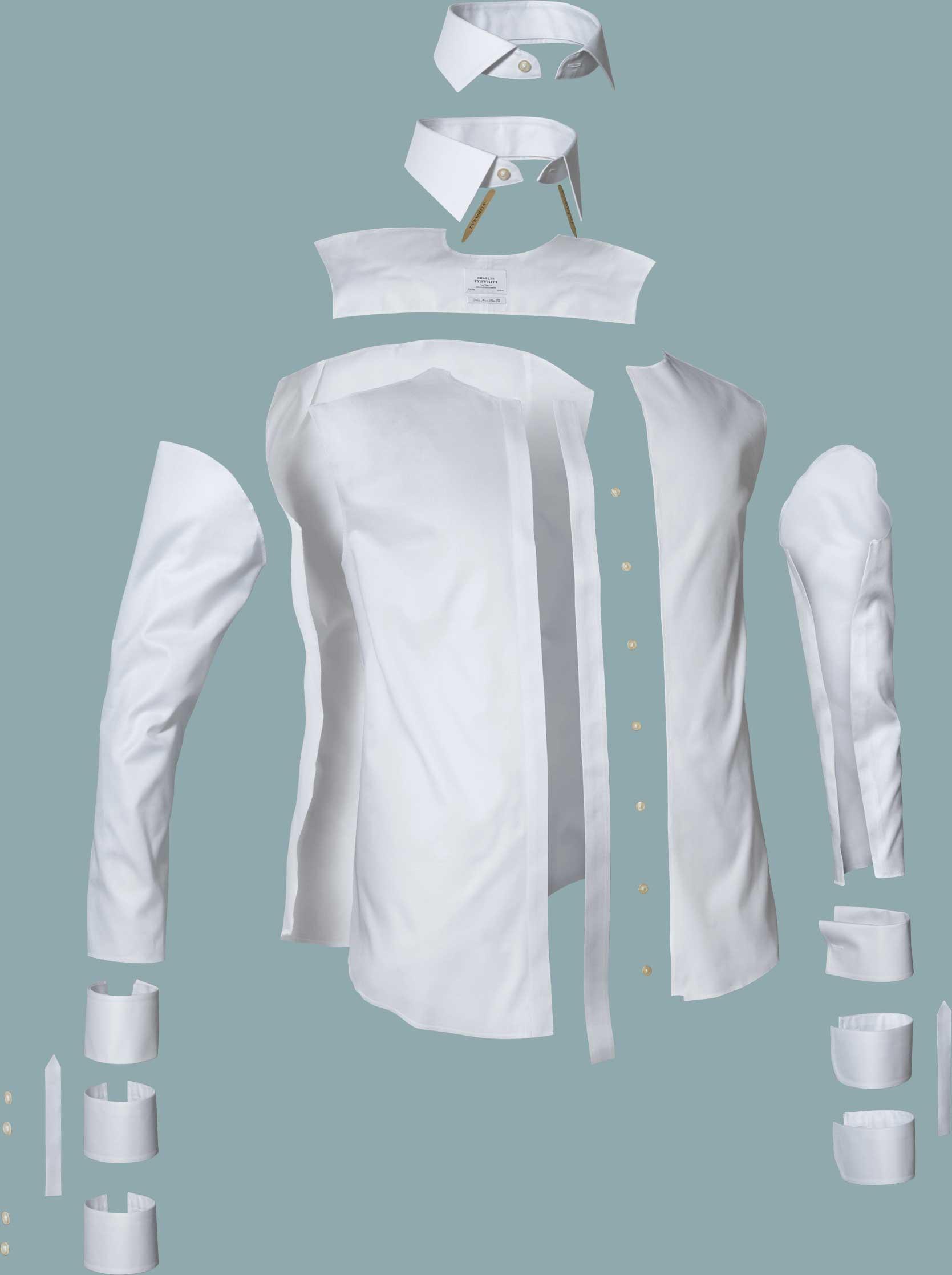 structuur van het overhemd