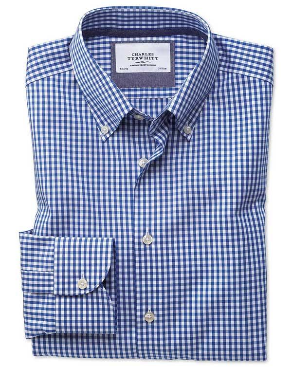 strijkvrij button-down overhemd