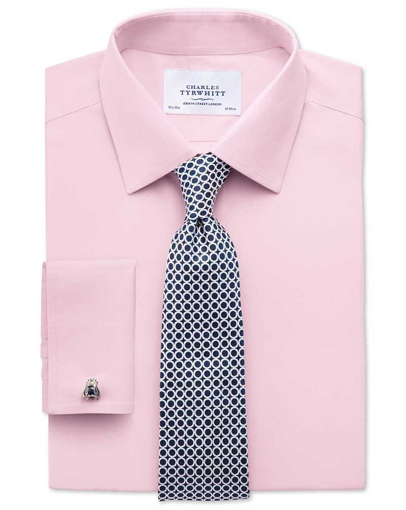 strijkvrij popeline overhemd