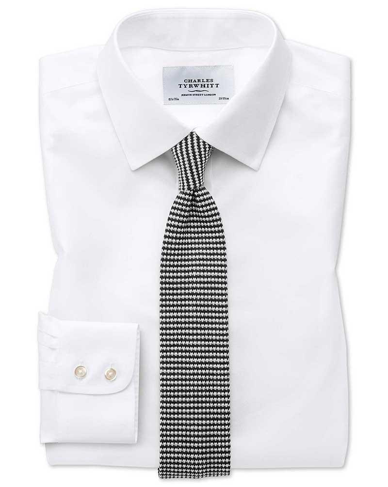 strijkvrij keperoverhemd