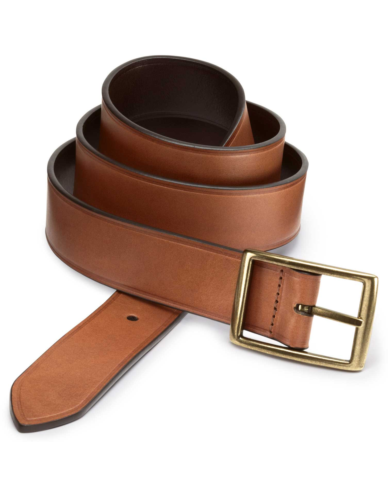 Brown Leather Reversible Belt Size 38-40 by Charles Tyrwhitt