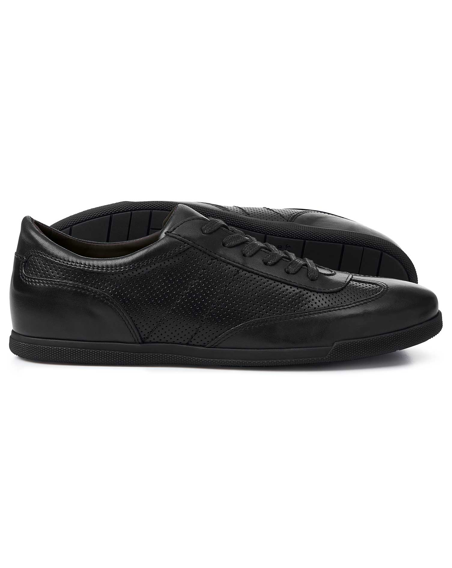 Leather Black Smart Trainers