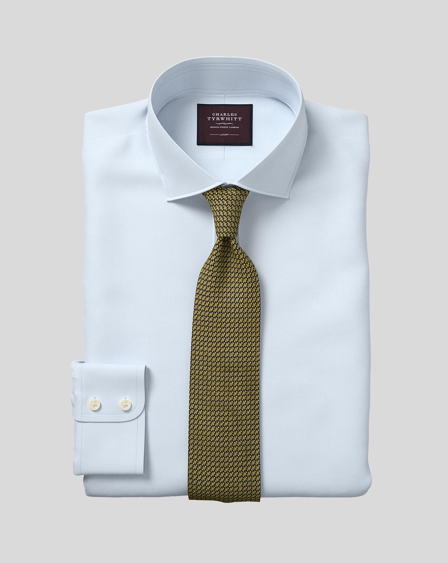Egyptian Cotton Extra Slim Fit Sky Blue Luxury Twill Shirt