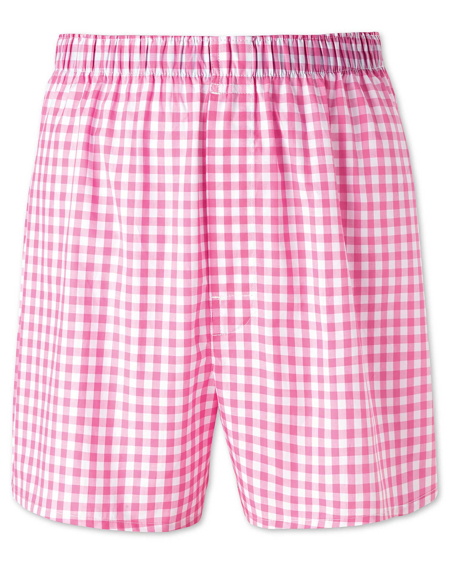 Pink Gingham Woven Boxers Size Medium by Charles Tyrwhitt