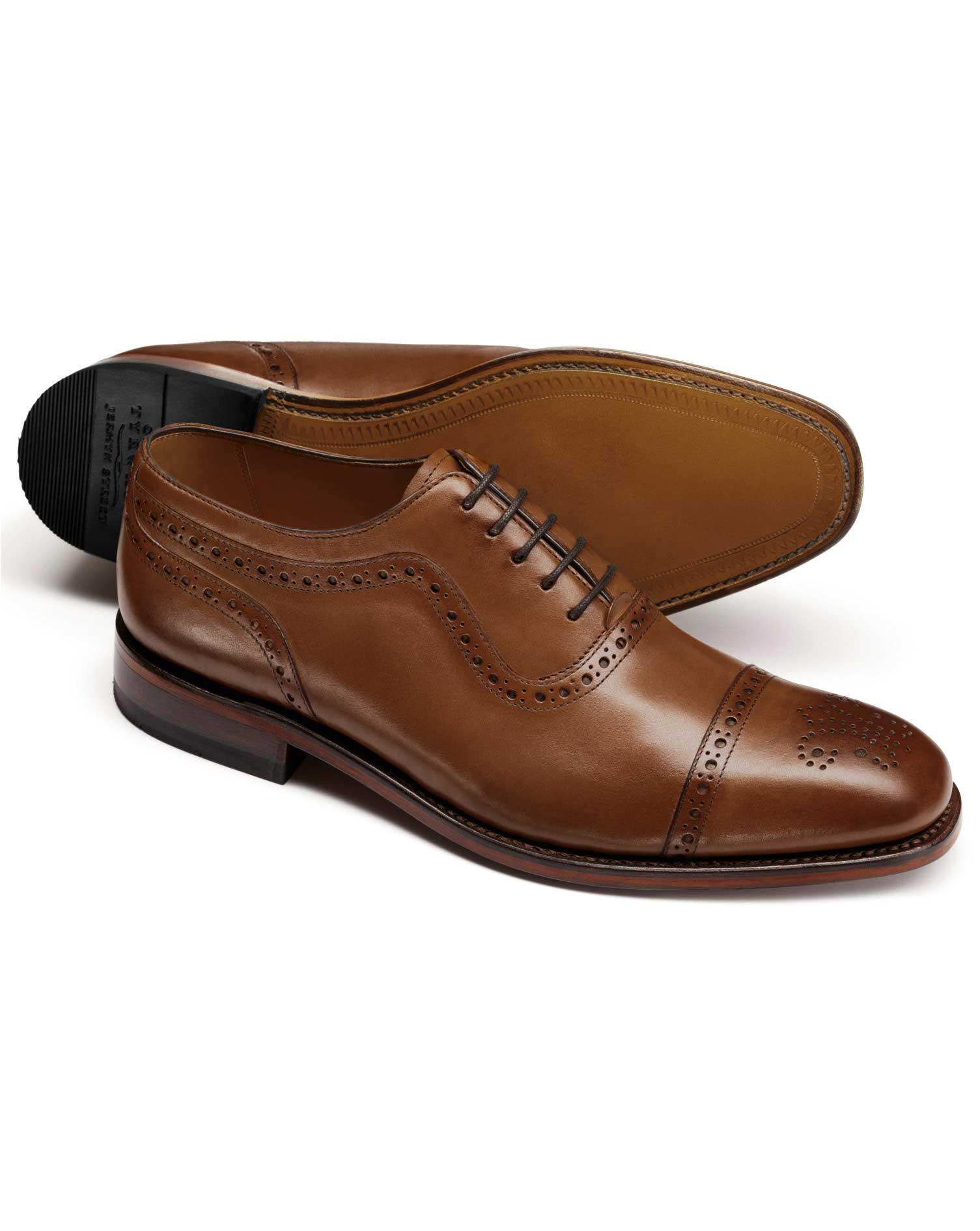 359b04b550a Brown Goodyear welted Oxford brogue shoe