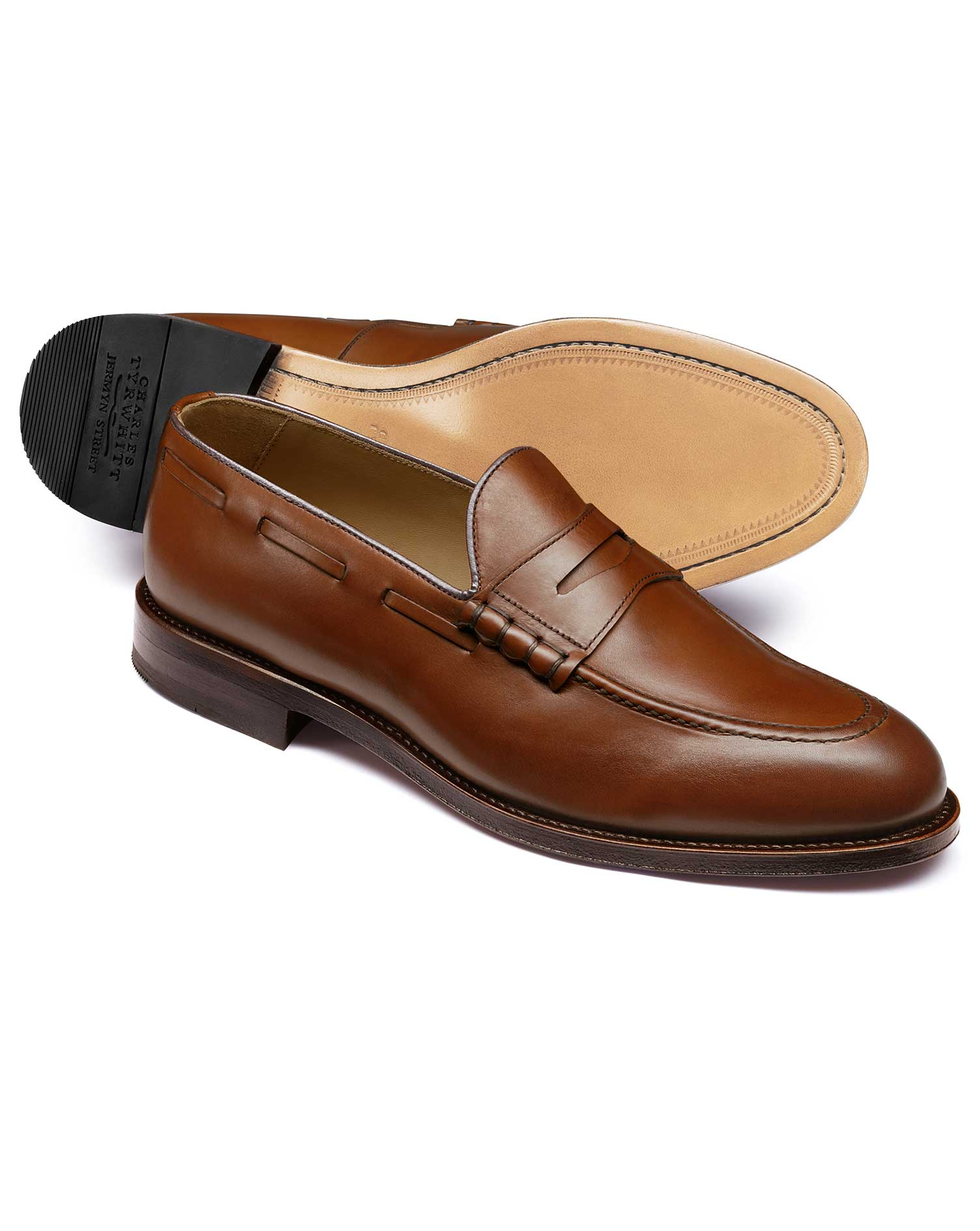 Tan Penny Loafer Size 9.5 R by Charles Tyrwhitt