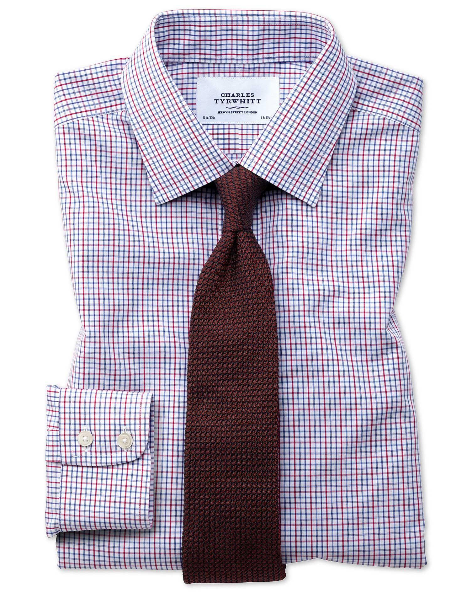 Extra Slim Fit Non Iron Multi Grid Check Shirt Charles