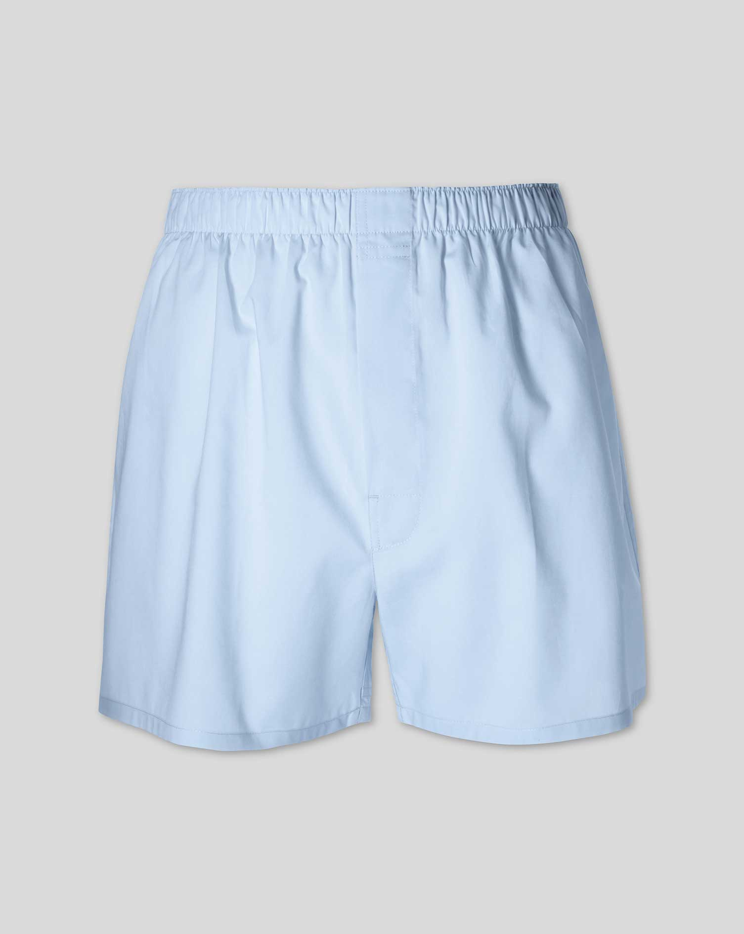 Plain Sky Blue Woven Boxers Size XL by Charles Tyrwhitt