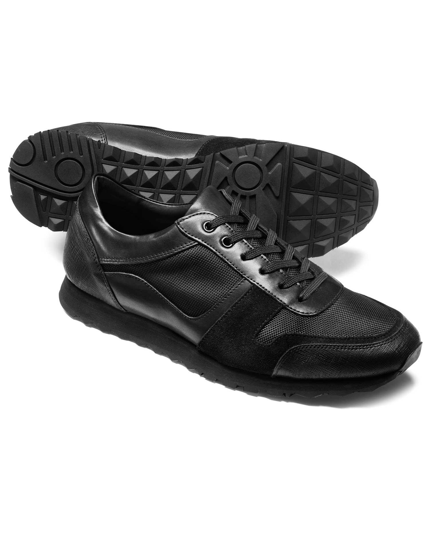 Black Sneaker Size 6 R by Charles Tyrwhitt