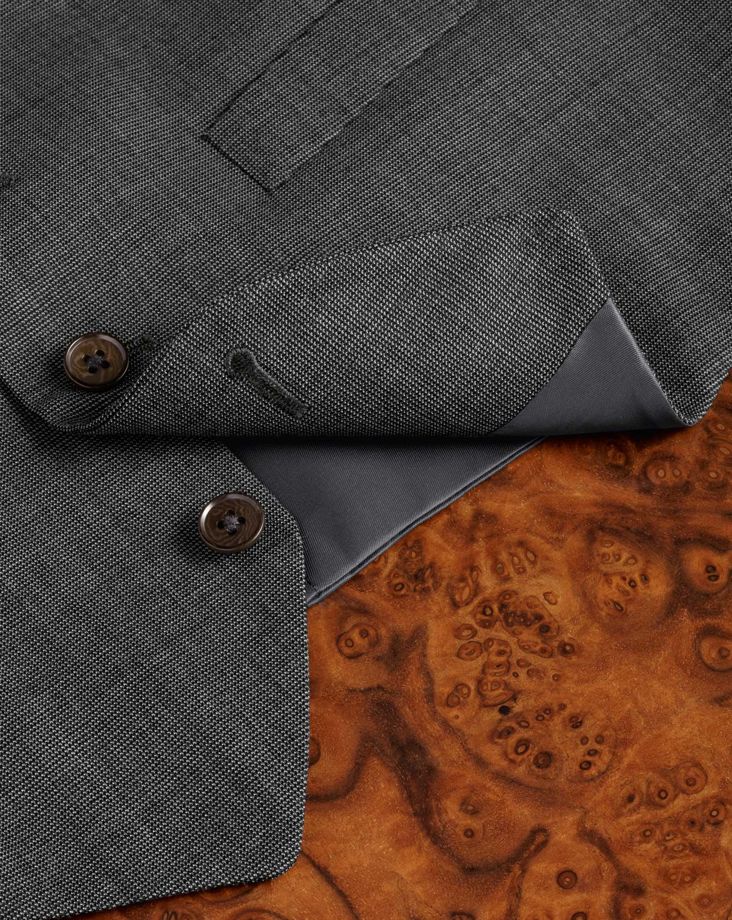 Grey end-on-end business suit vest