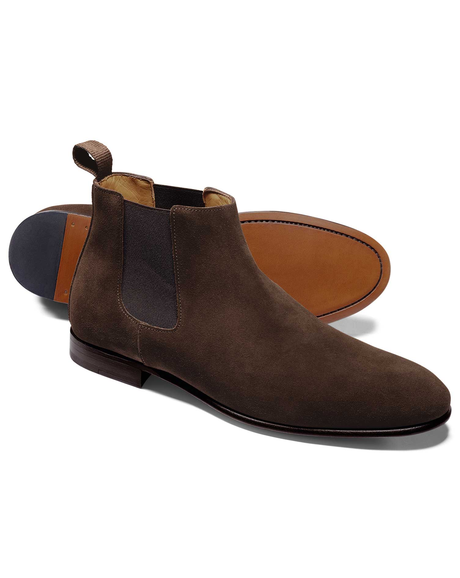 Chocolate Chelsea Boot Size 10 R by Charles Tyrwhitt
