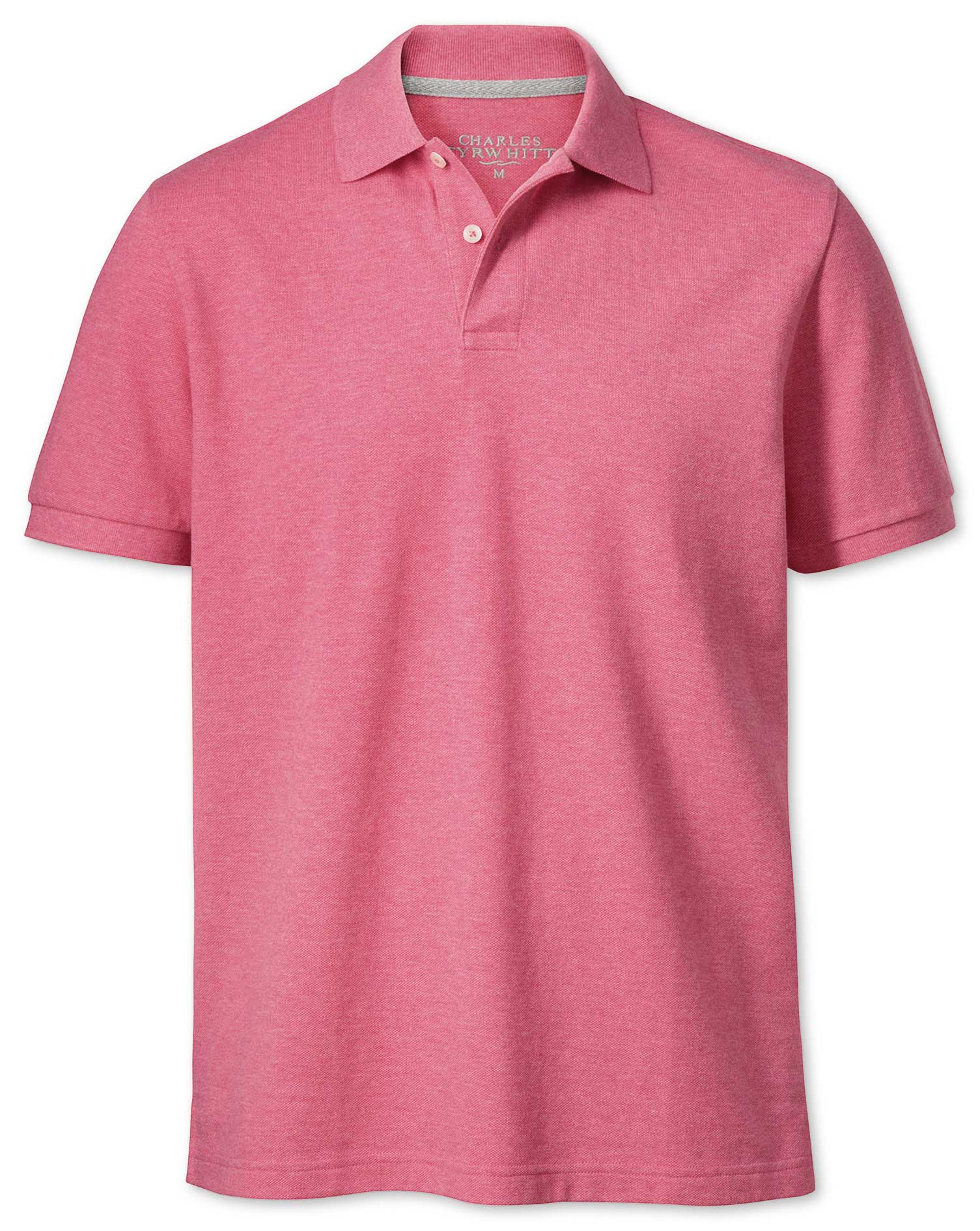 Dark Pink Pique Cotton Polo Size XS by Charles Tyrwhitt